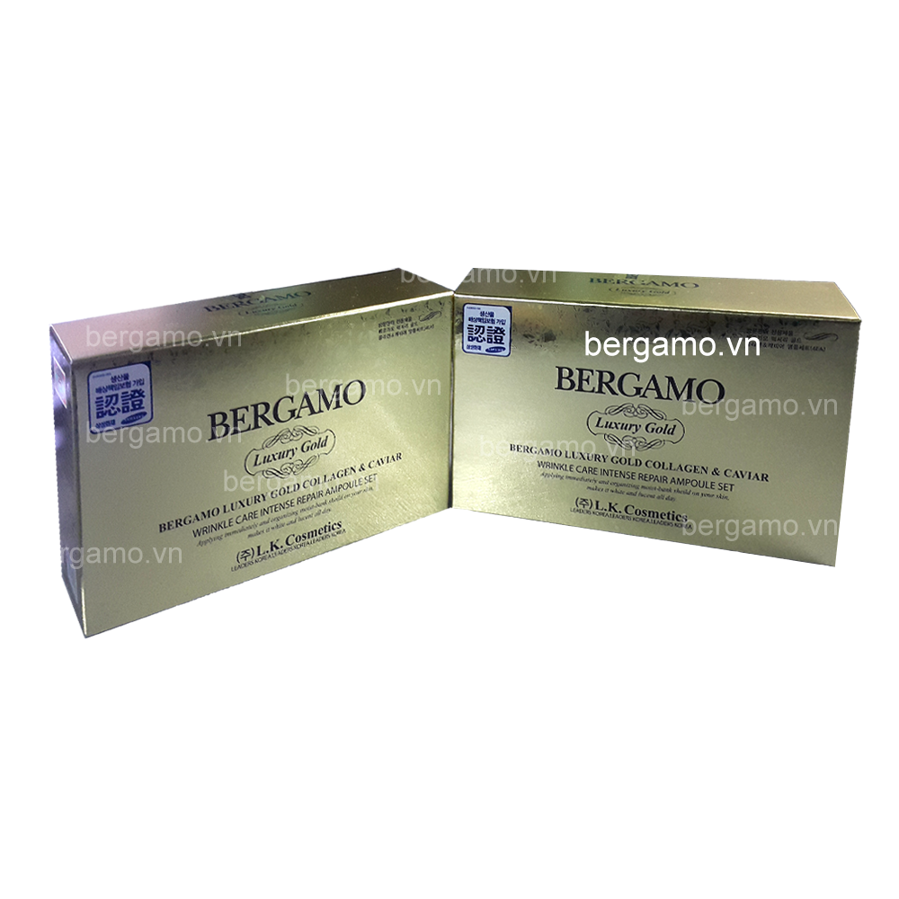 Serum Bergamo Luxury Gold Combo 2 Hộp